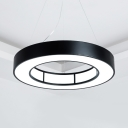 16/23.5/31.5 Inch Ring Suspension Light Modern Acrylic LED Hanging Light in Warm White/Yellow for Shop