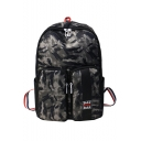 Unisex Cool Camouflage printed Large Capacity Black School Backpack with Pockets 31*12*45 CM