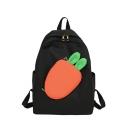 Cute Cartoon Color Block Carrot Pattern School Bag Backpack 16*3*18 CM