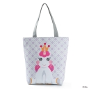 Hot Fashion Geometry Unicorn Printed White Shoulder Tote Bag 27*11*38 CM