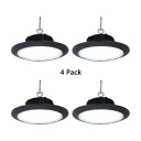 1/4 Pack Slim UFO Bay Light Supermarket Garage Aluminum High Brightness 100W LED Pendant Lamp