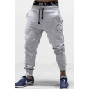 Men's Trendy Printed Casual Breathable Drawstring Sport Cotton Sweatpants