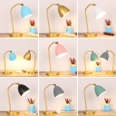 Rotatable Metal Dome LED Reading Light Bedroom Study Room 1 Light Macarcon Colored Desk Light