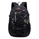 Big Capacity TEYIHONG Letter Print Patchwork Nylon Sports Bag Travel Backpack 55*33*19 CM