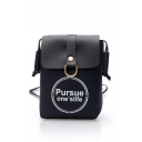 Stylish Letter Printed Long Strap Crossbody Cell Phone Purse 15*4*20 CM