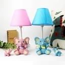 Lovely Toy Elephant Desk Light 1 Light Resin Reading Light in Blue/Pink for Boys Girls Bedroom