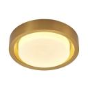 Bathroom Round LED Flush Mount Light Frosted Glass Waterproof Third Gear/White Lighting Ceiling Light