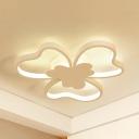 Heart Petal Kindergarten Ceiling Light Metal Simple Style LED Flush Mount Light in White