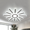 Eye-Caring LED Ceiling Mount Light Modern Acrylic Stepless Dimming/Warm/White Lighting for Dining Table