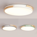 Acrylic Round LED Ceiling Mount Light Nordic Style Gray/Green/White Ceiling Lamp with Neutral Lighting for Kid Bedroom