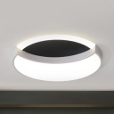 Nordic Style Moon LED Ceiling Fixture Acrylic Warm/White Lighting Flush Light for Study Room