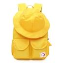 Funny Creative Hat Shape Double Pocket Front Waterproof Nylon Travel Bag School Backpack 35*25*17 CM