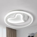 Heart Shaped Ceiling Lamp Nordic Style Acrylic LED Ceiling Mount Light in Warm/White for Kid Bedroom
