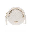 Chic Lace Floral Rivet Embellishment Round Crossbody Shoulder Bag 20*7*20 CM