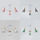 Creative Bottle Chandelier 3 Lights Metal Ceiling Light in White/Gray/Green/Pink for Restaurant