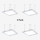 1/4 Pack Aluminum Rectangle Pendant Light Modern Slim LED Ceiling Fixture in White for Kitchen