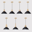 Black Bowl Shade Pendant Light 1 Light Vintage Style Aluminum Hanging Light for Kitchen
