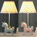 Lovely Unicorn LED Desk Light 1 with Tapered Shade Light Resin Reading Light for Boy Bedroom