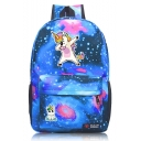 Fashion Galaxy Unicorn Print Oxford Cloth Backpack 45*31*13 CM
