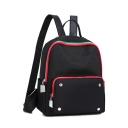 Fashion Colorblock Zipper Patchwork Black Oxford Cloth School Work Backpack 27*24*11 CM