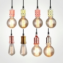 Simple Style Edison Bulb Hanging Light 1/6 Pack Single Light Glass Pendant Light for Restaurant