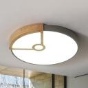 Modern Slim Panel Flush Mount Light Acrylic Macaron Colored LED Ceiling Light for Child Bedroom