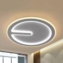 Acrylic Round LED Flush Mount Light Kid Bedroom Contemporary Ceiling Lamp in Warm/White