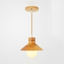Wood Restaurant Pendant Light Wood 1/3/4/6 Lights Contemporary Ceiling Pendant in Beige