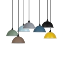1 Light Bowl Shade Pendant Light Modern Style Metal Ceiling Light with Adjustable Cord for Office