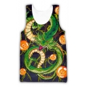 Mens Summer Cool 3D Dragon Printed Sleeveless Loose Fit Casual Tank Top
