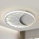 Slim Panel Bedroom LED Ceiling Mount Light Metal Modern Flush Light in Warm/White