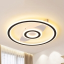 Acrylic Compass LED Flush Mount Light Cartoon Warm/White Lighting Ceiling Light for Kid Bedroom