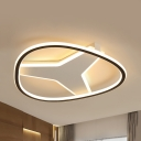 Y-Shaped Study Room Ceiling Mount Light Acrylic LED Flush Light with Warm/White Lighting