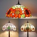 Sunflower/Victorian Bedroom Floor Lamp Stained Glass 3 Lights Tiffany Antique Floor Light