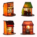 Multi-Color House Desk Light 1 Light Tiffany Creative Glass Table Light for Living Room Study Room