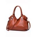 Simple Fashion Plain Tote Handbag for Women 36*15*26 CM