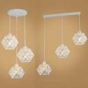 La lumière pendante de nid en métal 3 allume la lumière accrochante linéaire / ronde créative d'auvent en blanc pour la cuisine