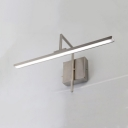 Linear Mirror LED Vanity Light Acrylic Nickle 16/19.5/23.5 Inch Rotatable Wall Light with White Lighting
