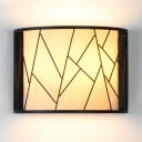 Frosted Glass Frame Wire Wall Light 2 Lights Traditional Sconce Light in White for Front Door