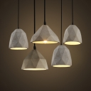 Metal Diamond Suspension Light 1 Light Antique Style Hanging Lamp in Gray for Restaurant