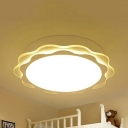 Simple Style Petal Ceiling Light Acrylic LED Flush Mount Light with White Lighting/Third Gear for Hallway