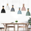 Nordic Candy Colored Pendant Light Goblet Shape One Light Metal Hanging Light for Restaurant