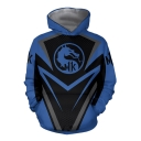 Popular MK Dragon Comic Cosplay Costume Long Sleeve Blue Casual Hoodie