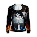 Game of Thrones Cool Dragon and Queen 3D Print Round Neck Long Sleeve Sweatshirt