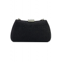 Simple Fashion Solid Color Crystal Embellish PVC Evening Clutch Bag for Women