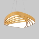 Creative Beige Hanging Light Energy Efficient Acrylic LED Pendant Lamp in Neutral/Warm/White for Restaurant