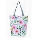 Popular Floral Leaves Printed White Shoulder Bag 27*11*38 CM
