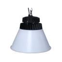 Aluminum Cone LED Bay Light 1 Head High Brightness Pendent Light in Black/White for Workshop Stadium