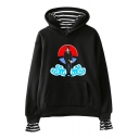Trendy Comic Anime Character Cloud Printed Long Sleeve Loose Casual Hoodie
