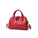 Simple Fashion Solid Color Zipper Commuter Shoulder Handbag for Women 30*14*20 CM